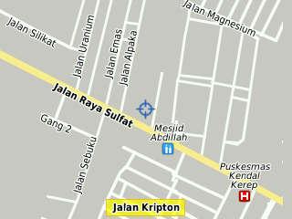 Gambar : Peta Mie Buto Ijo, Jalan Urea